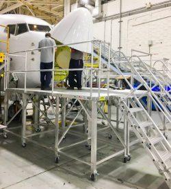 737 Nose Radome Access Stand