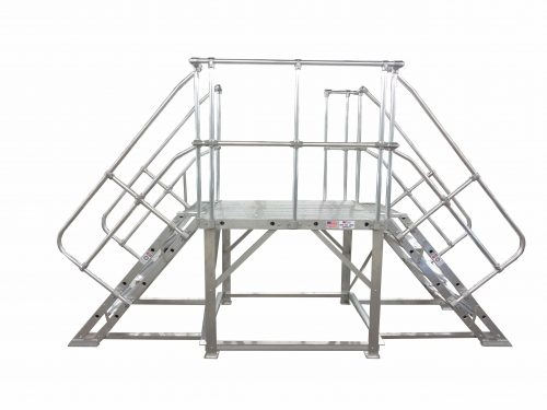 Custom Work Platform With Double Entry