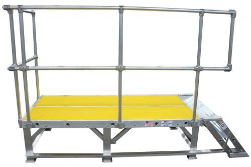 Work Platform with Safety Yellow Decking