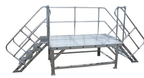 Stationary Work Platform with double entry