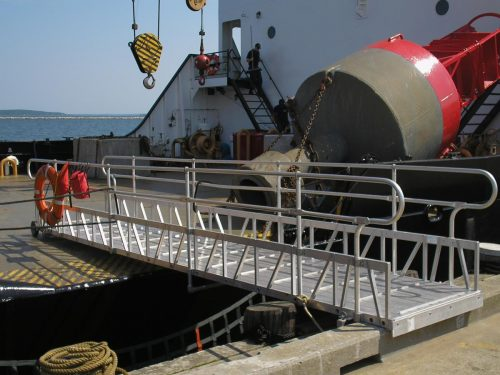 Gangway used from Coast Guard