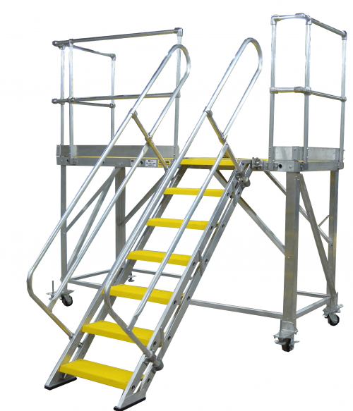 Rolling Work Platform with safety yellow decking