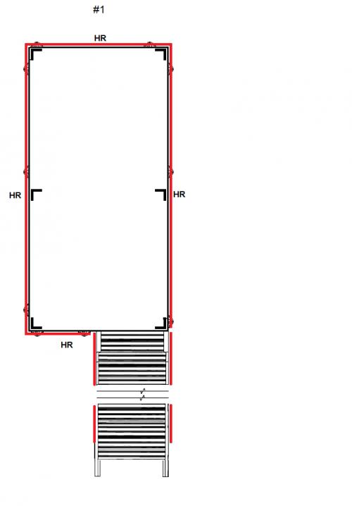 Rolling Work Platform with handrails